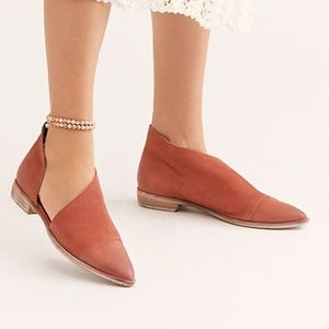 Free People Flat Royale in wine size 41 NWT